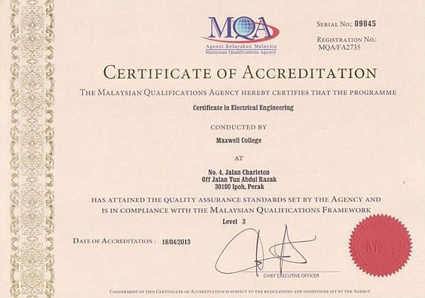 Course Offered Certificate In Electrical Engineering on First School Years Maths